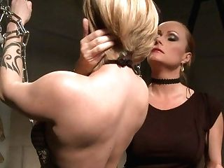Ardent Platinum-blonde Whore Gets Her Cuddly Bod Spanked With Lash