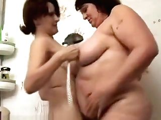 Two Matures Bbw Lezzies Have Fun With Food