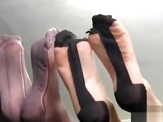 All Girl Honey In Nylons Inhales Feet And Toes As Horny Mummy...